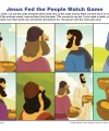 Children's Bible Matching Game - Jesus Fed the People