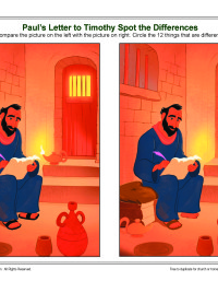 Paul S Letter To Timothy Spot The Difference Bible Activity