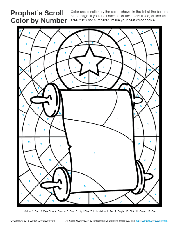 Bible Coloring Pages for kids | Prophets Told About God's Son