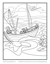 Bible Coloring Pages Paul 39 s Shipwreck