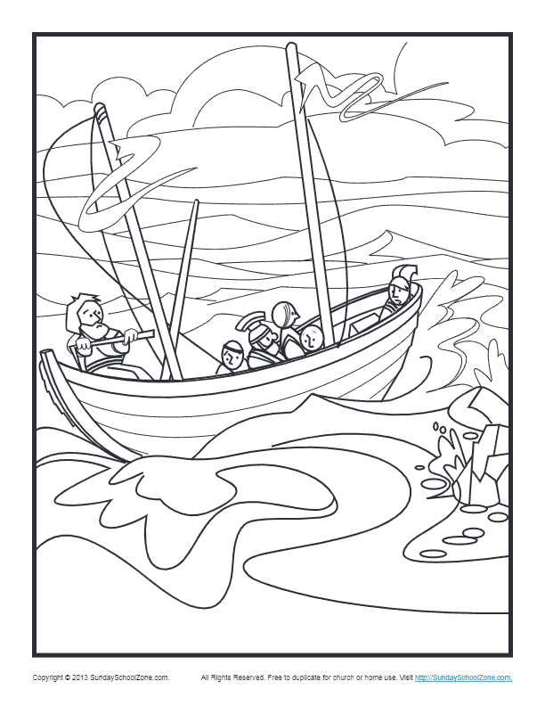 Coloring page- The acts of the apostles: Prison doors and a jailor's … | 792x612
