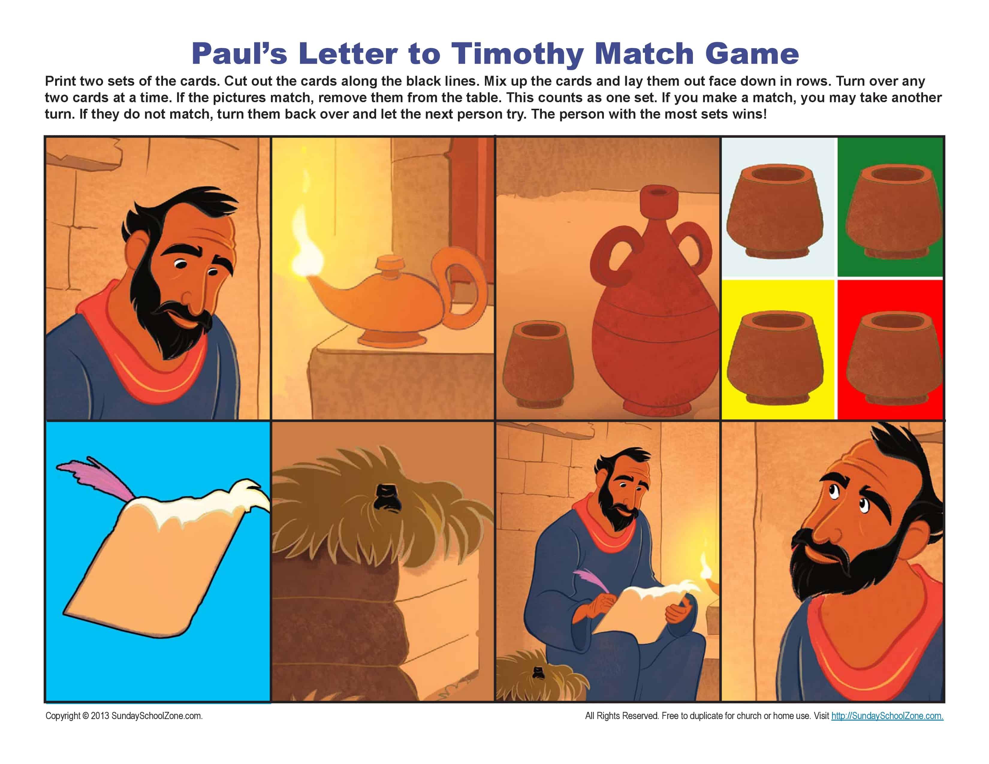 Timothy Sunday School Craft
