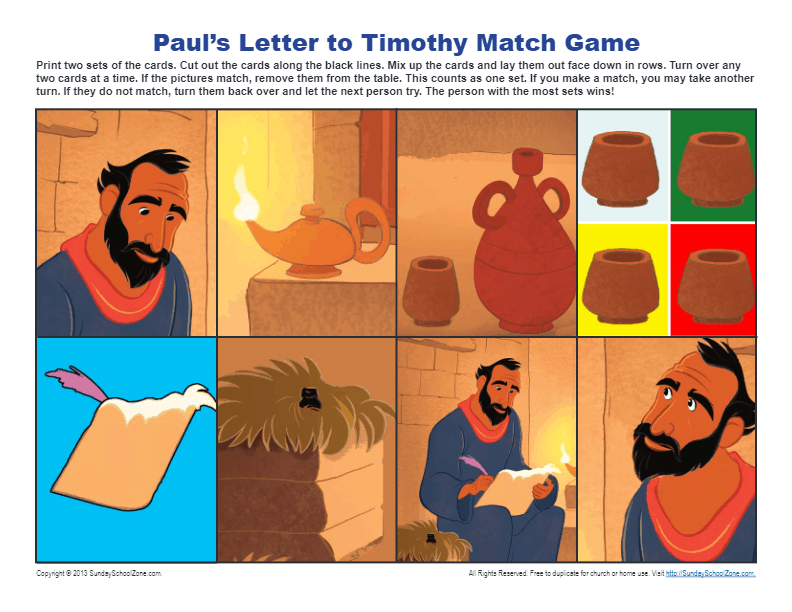 Paul 39 s Letter to Timothy Match