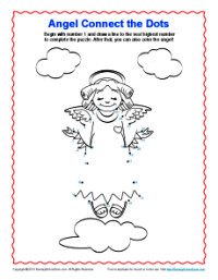 Angel Connect the Dots - Children's Bible Activity