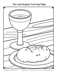 Printable The Last Supper Coloring Page