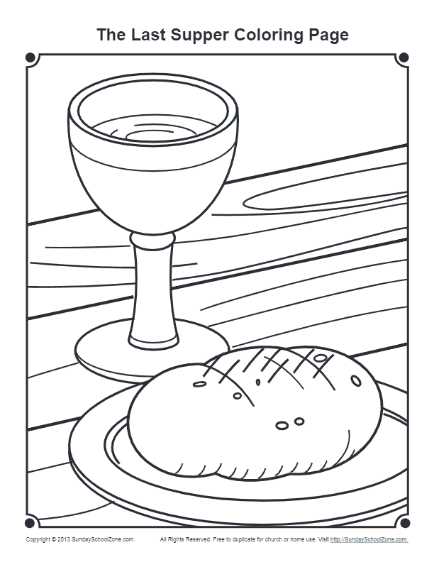 Last Supper Coloring Page for Maundy