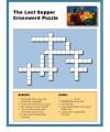 Children's Bible Crossword Puzzle Activity - The Last Supper