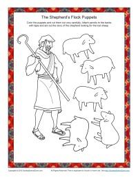 The Shepherd's Flock of Sheep Puppet Figures