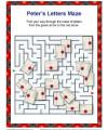 Children's Bible Maze Activity - Peter's Letters