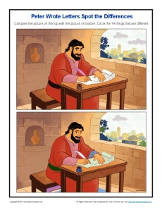 Peter Wrote Letters Spot The Differences Bible
