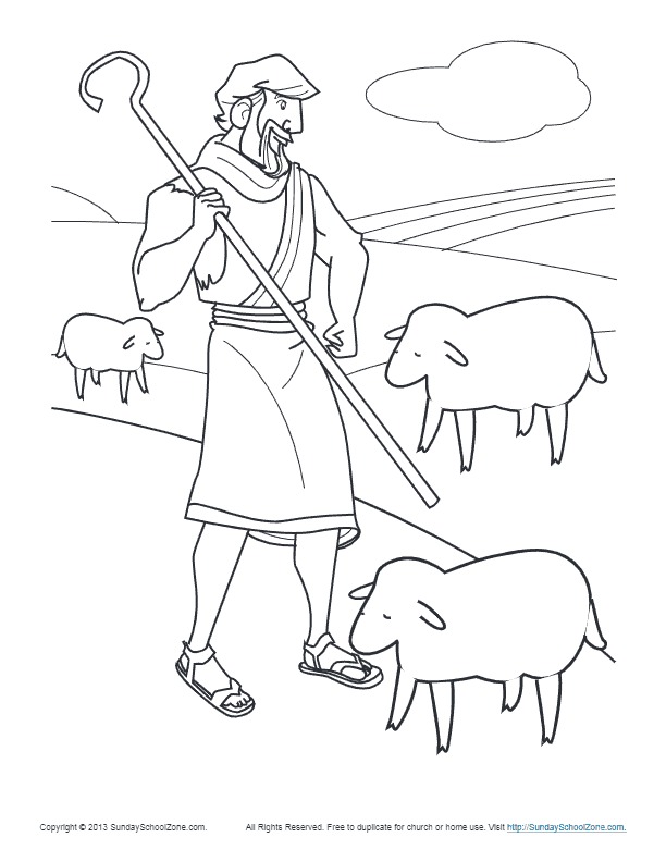 - Simple Bible Coloring Pages On Sunday School Zone
