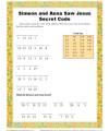Children's Secret Code Bible Activity - Simeon and Anna Saw Jesus
