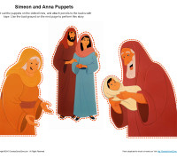 Simeon And Anna Puppets Kids Ministry Printable Activities