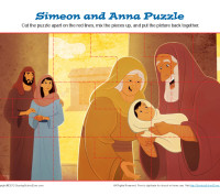 Simeon and Anna Puzzle Activity for Sunday School