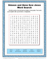 Simeon and Anna Saw Jesus Word Search Activity