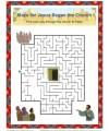 Bible Maze Activity for Kids - Jesus Began the Church