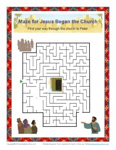 Jesus Began The Church Maze Children 39 s
