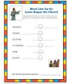 Jesus Began the Church Word Line Up - Children's Bible Activity