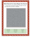 Jesus Began the Church Word Search - Children's Bible Activity