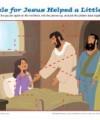 Children's Bible Jigsaw Puzzle - Jesus Helped a Little Girl