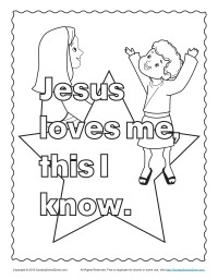 Jesus Loves Me Coloring Page Preschool Pictures to Pin on