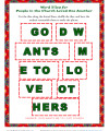 Children's Bible Word Tile Puzzle - Love One Another