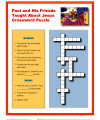 Church People Taught About Jesus Crossword Puzzle for Kids