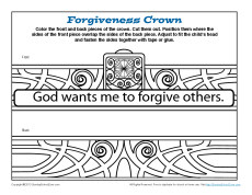 The Story Of The Forgiving King Crown Bible Craft For Kids