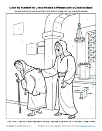 Jesus The Healer Coloring Pages