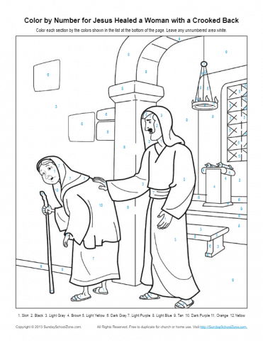 Jesus Heals Coloring Pages free image | 480x371