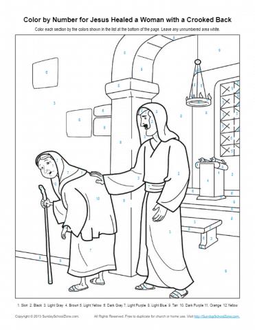 MarginalPost: jesus heals jairus daughter coloring pages and ... | 480x371