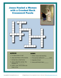 Bible Crossword Puzzle for Kids - Jesus Has the Power to Heal