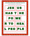 Bible Word Tile Activity - Jesus Has the Power to Heal
