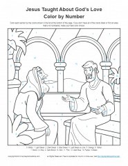 Bible Coloring Pages For Kids Jesus Taught About God S Love