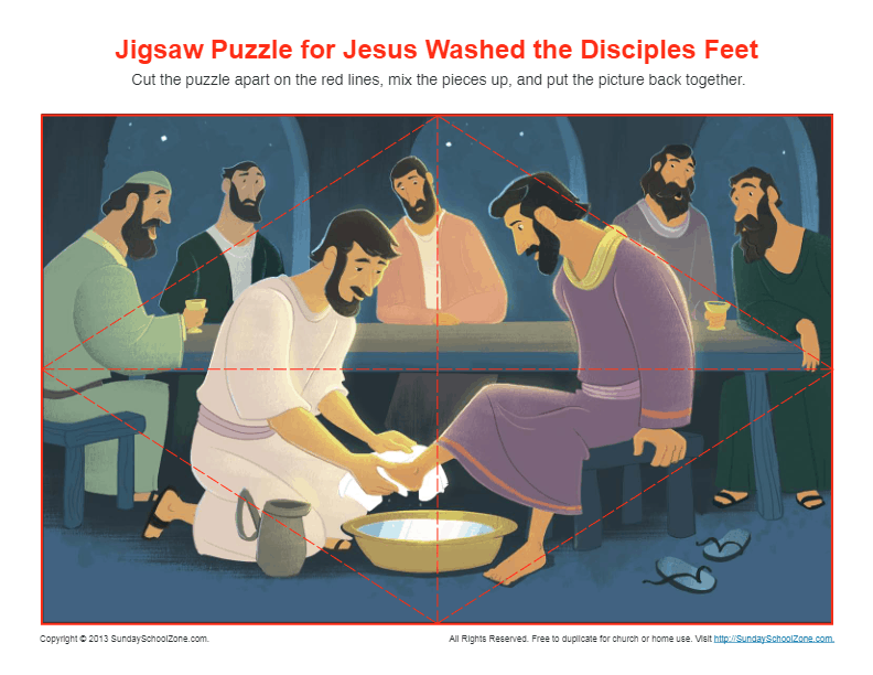 Jesus Washed the Disciples Feet Jigsaw Puzzle Bible