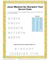 Children's Secret Code Bible Activity - Jesus Washed the Disciples' Feet