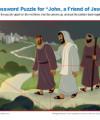Children's Bible Jigsaw Puzzle Activity - John, a Friend of Jesus