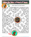 Maze Bible Activity for Kids - John, a Friend of Jesus