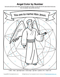 Angel Tells Joseph About Jesus Coloring Page