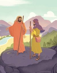 Abraham Shared with Lot—Bible Story Teaching Picture