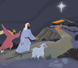 The Shepherds Approach Bethlehem Teaching Picture