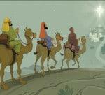 Wise Men Approach Bethlehem