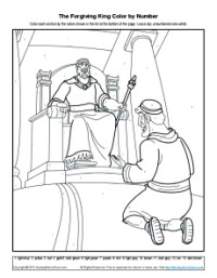 Bible Coloring Pages for Kids The Story of the Fiving