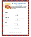 Children's Word Line Up Bible Activity - The Forgiving King
