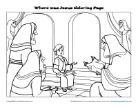 Where Was Jesus Coloring Page