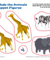Printable Sunday School Puppet Craft - God Made the Animals