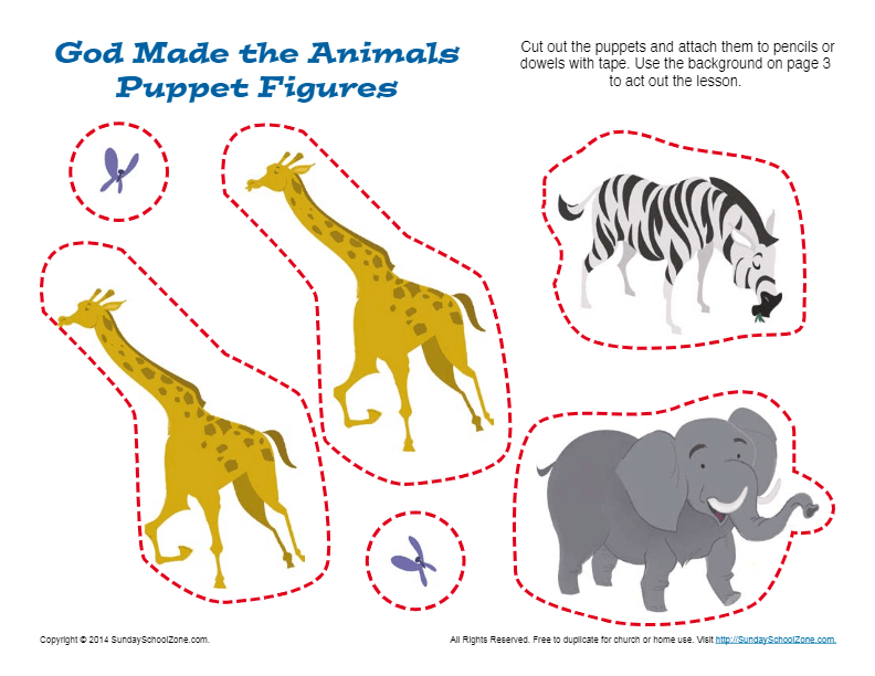 God Made The Animals Puppet Craft Bible Crafts For Kids