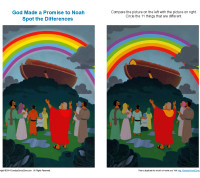 Find the Differences Bible Activity - God Made a Promise to Noah