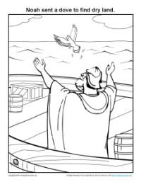 Bible Coloring Pages Noah Sent