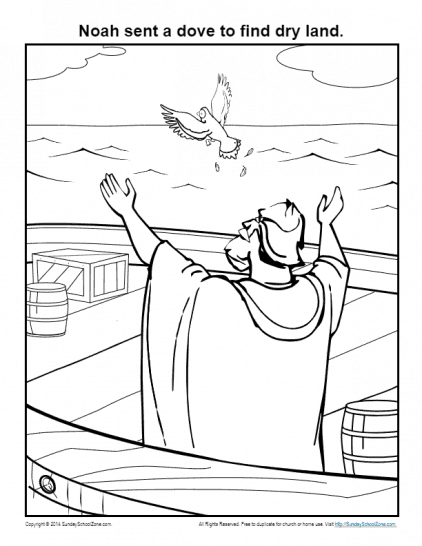 Simple Bible Coloring Pages on Sunday School Zone